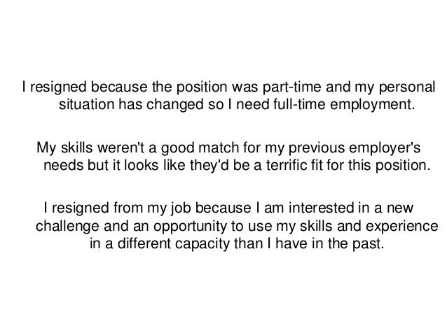 resigned from a job