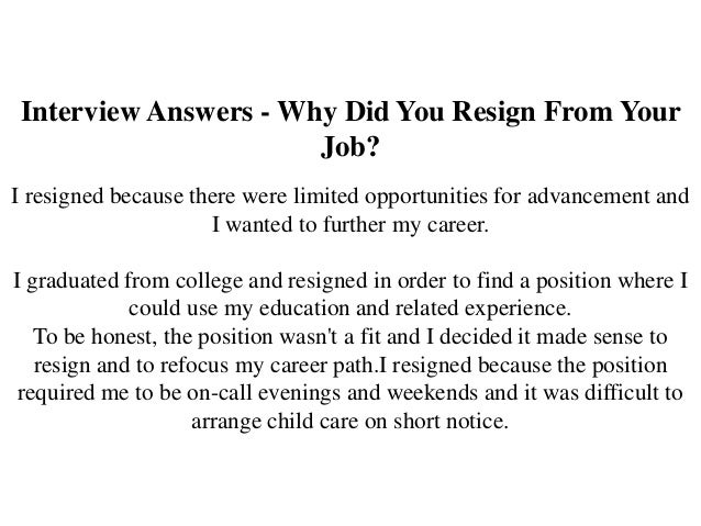 how to answer the why are you leaving interview question