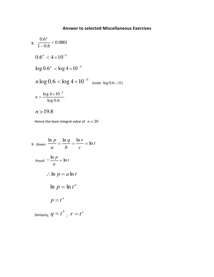 answers to selected exercises fhmt 7e