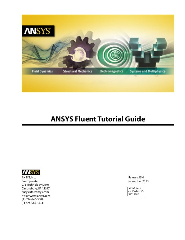 Ansys fluent tutorial guide R 15