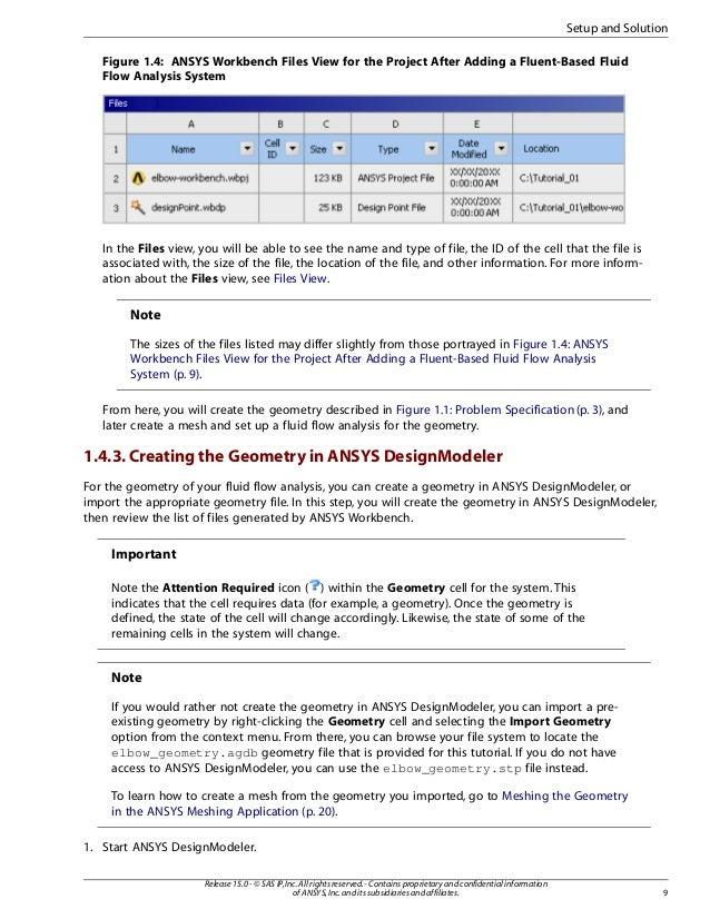 Ansys Design Modeler Tutorial Pdf