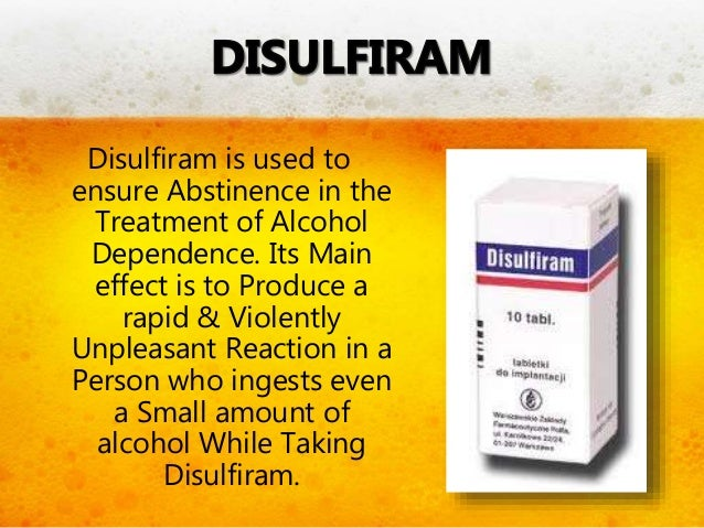 Disulfiram-Like Reactions Symptoms