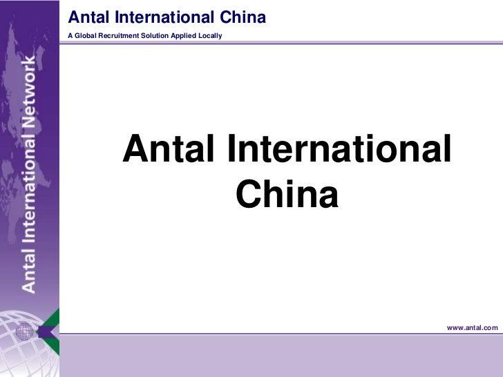 Antal International China<br />