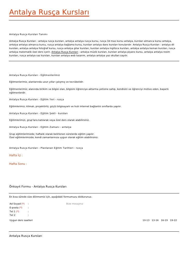Antalya Rusça KurslarıAntalya Rusça Kursları TanımıAntalya Rusça Kursları : antalya rusça kursları, antalya antalya rusça ...