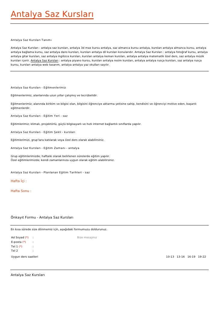 Antalya Saz KurslarıAntalya Saz Kursları TanımıAntalya Saz Kursları : antalya saz kursları, antalya 3d max kursu antalya, ...