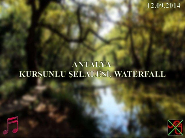 ANTALYA, KURŞUNLU ŞELALESİ, WATERFALL