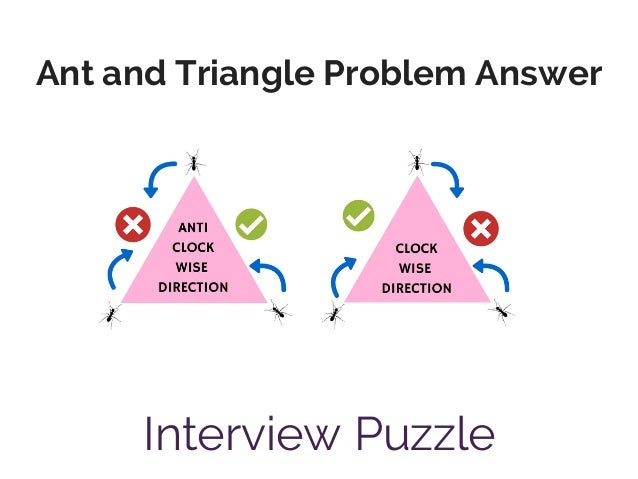 Ant and Triangle Problem Answer Interview Puzzle