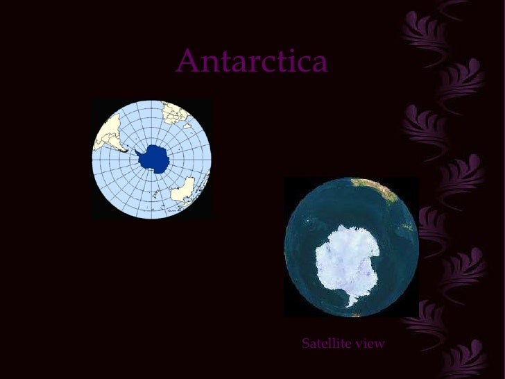 Antarctica Satellite view