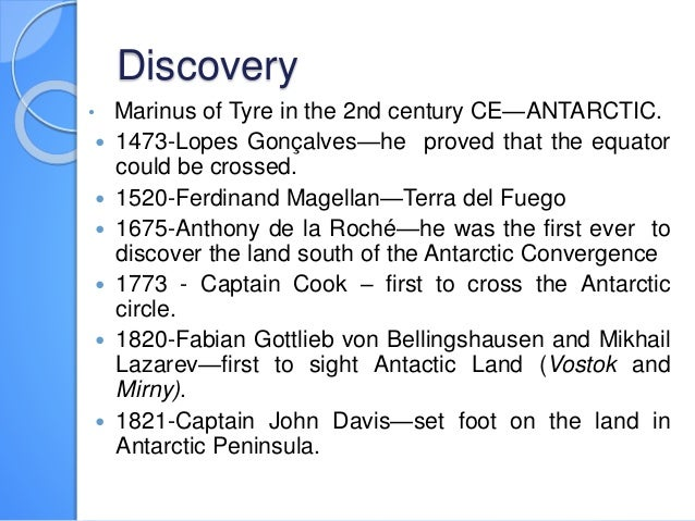 History and fun facts about Antactica