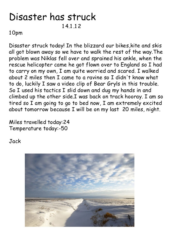 Disaster has struck                     1 4.1 .1 21 0pmDisaster struck today! In the blizzard our bikes,kite and skisall g...