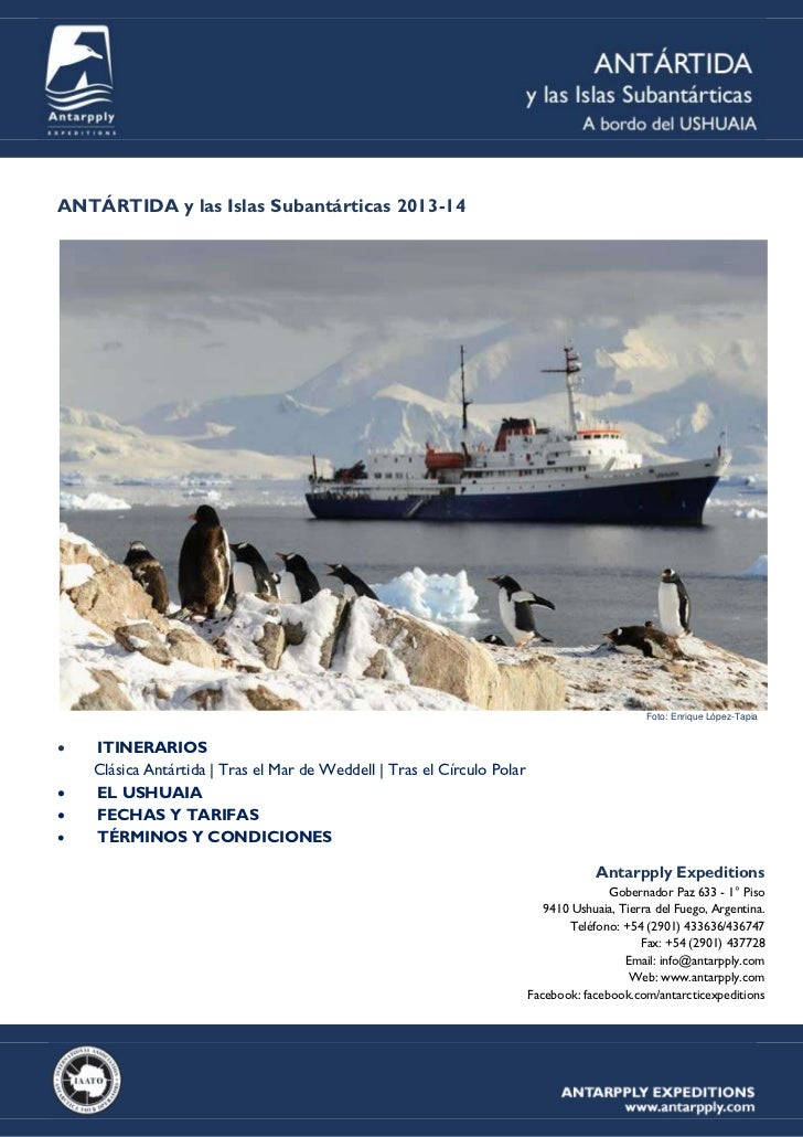 ANTÁRTIDA y las Islas Subantárticas 2013-14                                                                               ...