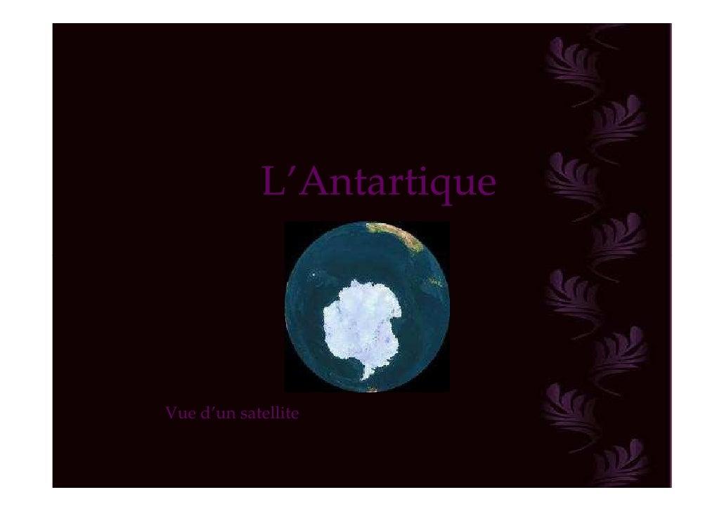 L'AntartiqueVue d'un satellite