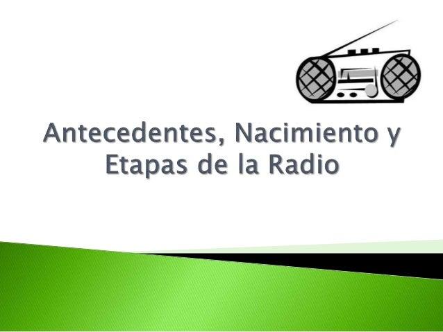 Existen casi 500 emisoras en Europa y unas 4000 en Estados Unidos, país de la radio libre. Los descubrimientos se fueron a...