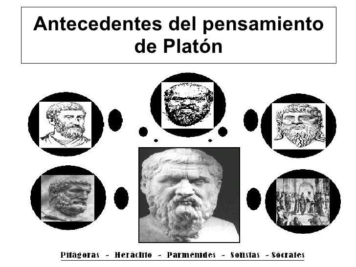 Antecedentes del pensamiento de Platón
