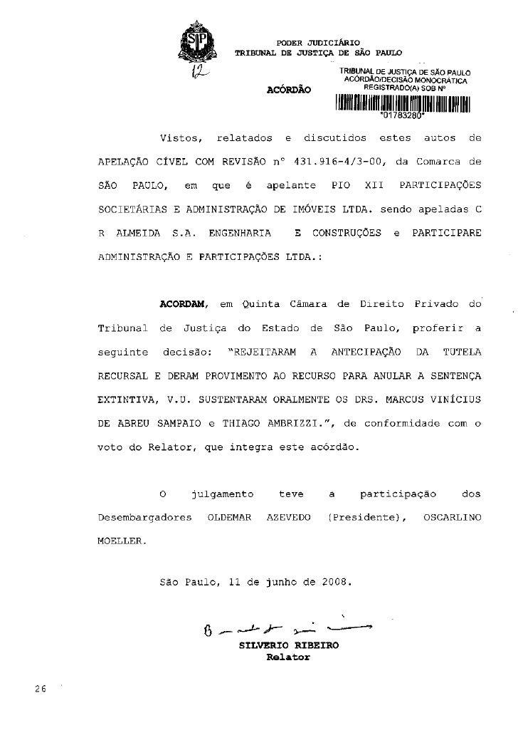 PODER J U D I C I Á R I O                                   TRIBUNAL DE JUSTIÇA DE SÃO PAULO                              ...