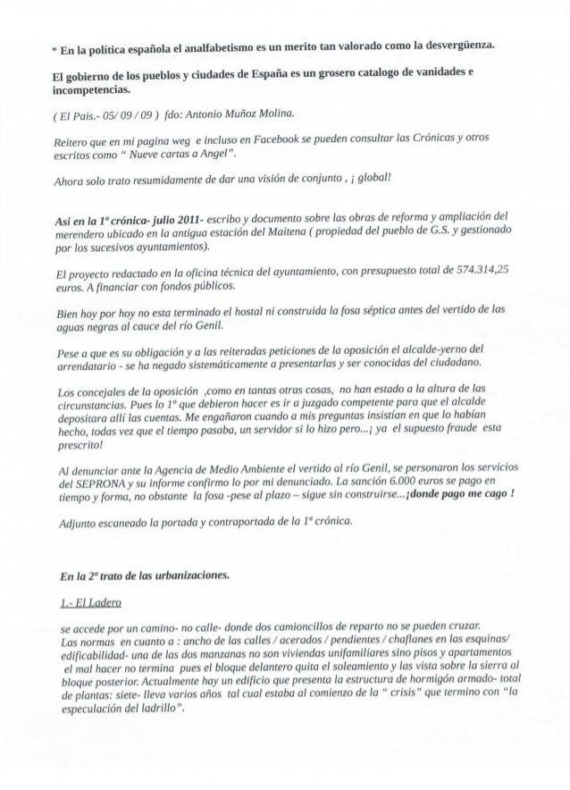 * En la política española el analfabetismo es un merito tan valorado como la desvergüenza.   El gobierno de los pueblos y ...