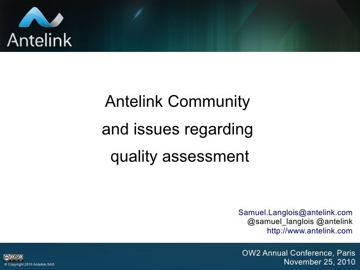 Antelink OW2 Conference Nov10
