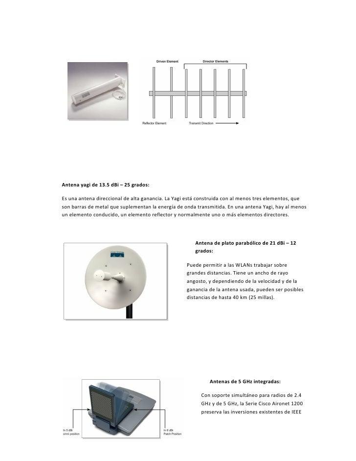 Antena yagi de 13.5 dBi – 25 grados:Es una antena direccional de alta ganancia. La Yagi está construida con al menos tres ...