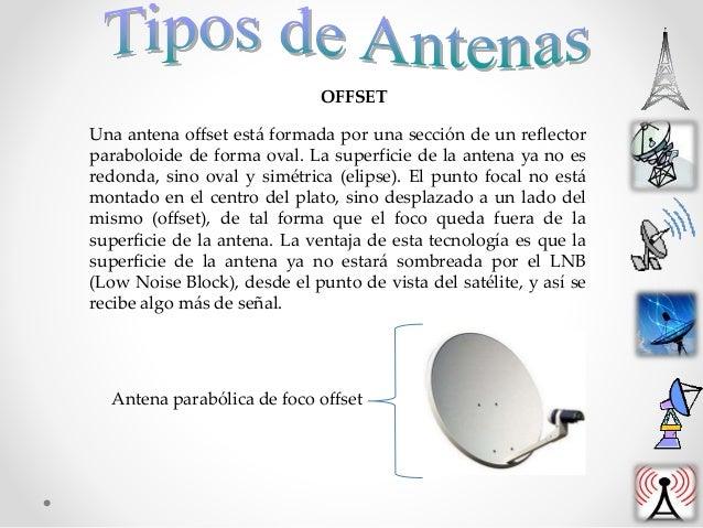 Una antena offset está formada por una sección de un reflector paraboloide de forma oval. La superficie de la antena ya no...