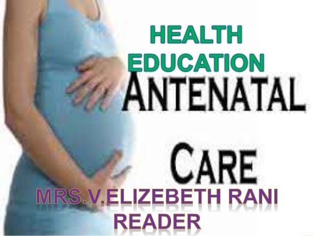 health education on antenatal care