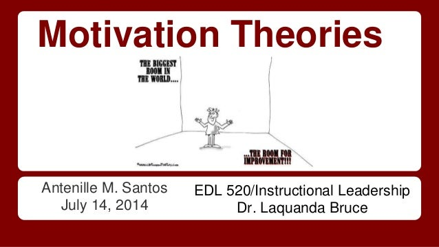 Motivation Theories Antenille M. Santos July 14, 2014 EDL 520/Instructional Leadership Dr. Laquanda Bruce