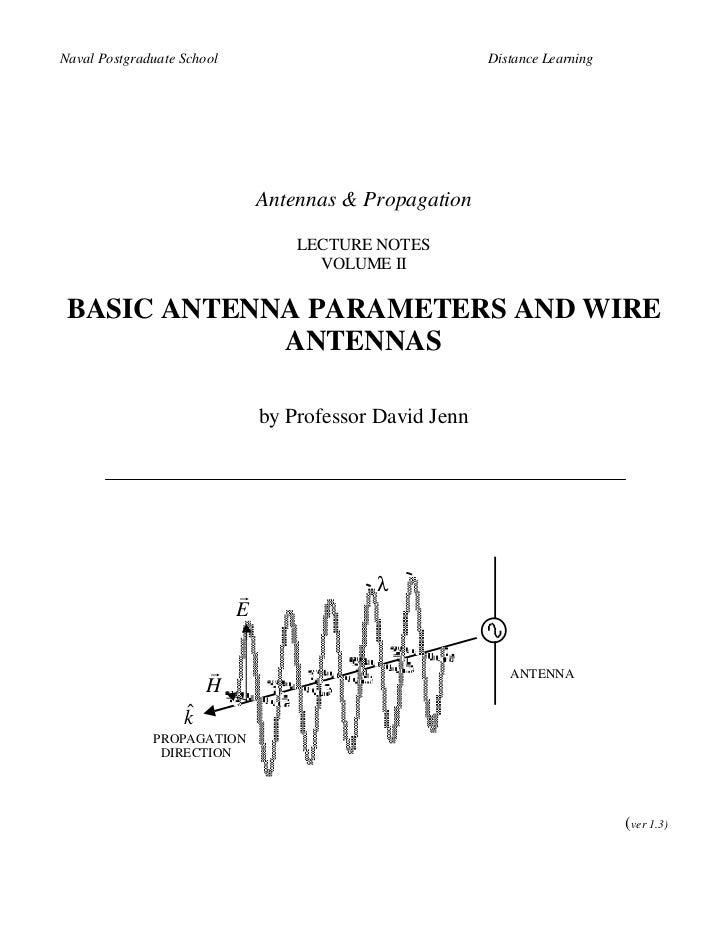Naval Postgraduate School                                 Distance Learning                                Antennas & Prop...