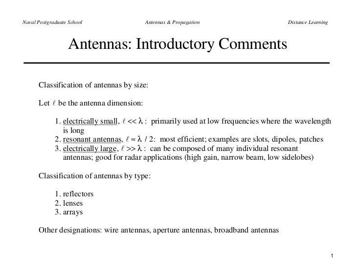 Antenna Theory - Parameters