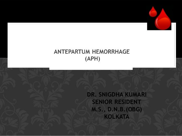 DR. SNIGDHA KUMARI SENIOR RESIDENT M.S., D.N.B.(OBG) KOLKATA