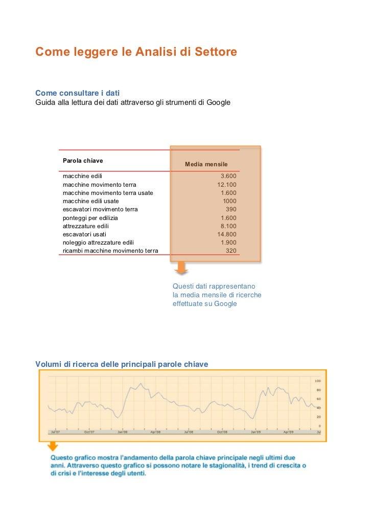 Come leggere le Analisi di SettoreCome consultare i datiCome consultare i datiGuida alla lettura dei dati attraverso gli s...