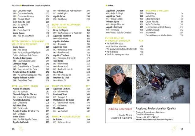 Rock&Ice l Monte Bianco classico & plaisir 1110 036 • Contamine-Négri 199 037 • Contamine-Grisolle 202 038 • Contamin...