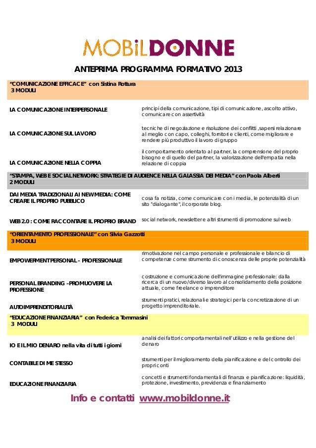 """ANTEPRIMA PROGRAMMA FORMATIVO 2013""""COMUNICAZIONE EFFICACE"""" con Sistina Rottura 3 MODULILA COMUNICAZIONE INTERPERSONALE    ..."""