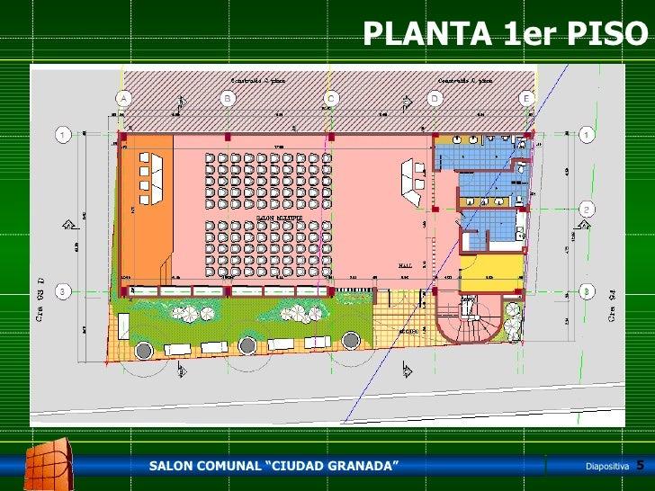Salon comunal c granada - Planta de salon ...