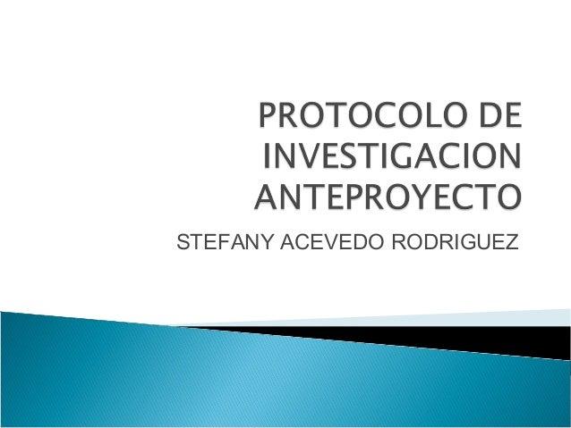 STEFANY ACEVEDO RODRIGUEZ