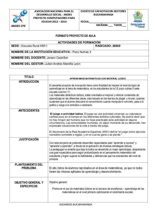 ASOCIACION NACIONAL PARA EL              EVENTO DE CAPACITACION GESTORES                 DESARROLLO SOCIAL - ANDES        ...