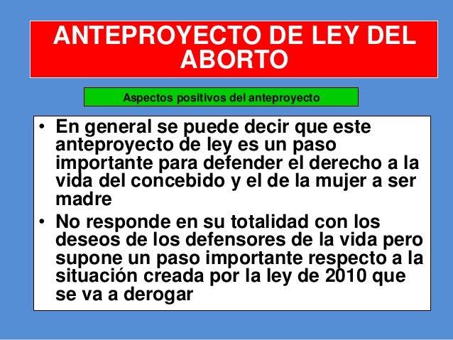 Anteproyecto de ley del aborto