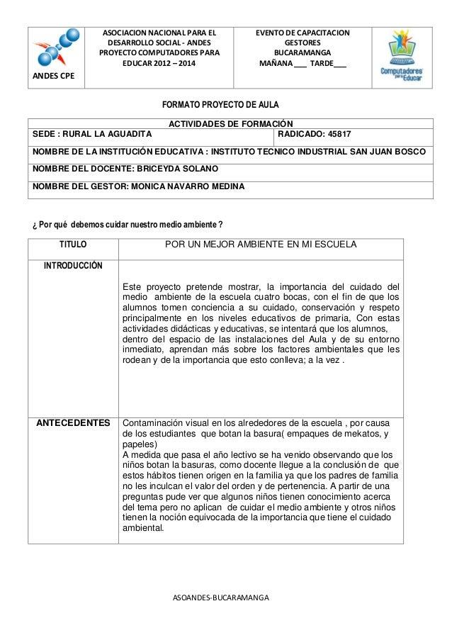 ASOCIACION NACIONAL PARA EL DESARROLLO SOCIAL - ANDES PROYECTO COMPUTADORES PARA EDUCAR 2012 – 2014  EVENTO DE CAPACITACIO...