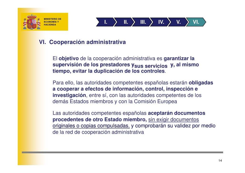 MINISTERIO DE                          I.      II.    III.    IV.       V.   VI.  ECONOMÍA Y  HACIENDA     VI. Cooperación...