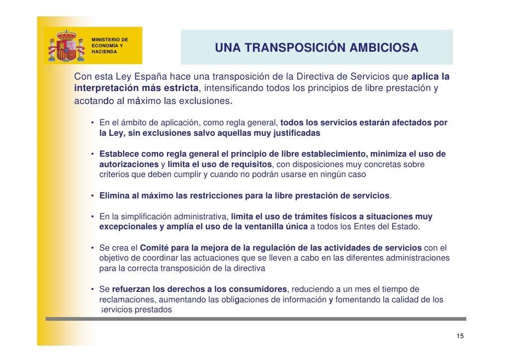 MINISTERIO DE                                     UNA TRANSPOSICIÓN AMBICIOSA     ECONOMÍA Y     HACIENDA     Con esta Ley...