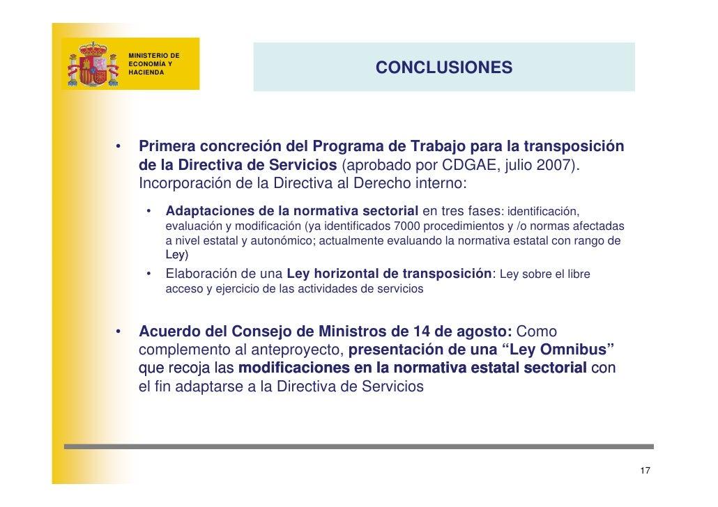 MINISTERIO DE                                                       CONCLUSIONES     ECONOMÍA Y     HACIENDA     •     Pri...