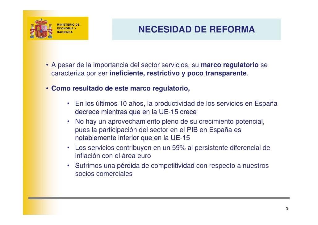 MINISTERIO DE                                 NECESIDAD DE REFORMA    ECONOMÍA Y    HACIENDA     • A pesar de la importanc...