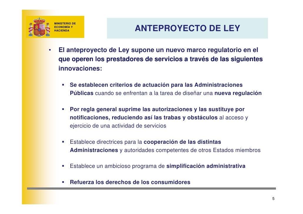 MINISTERIO DE                                     ANTEPROYECTO DE LEY     ECONOMÍA Y     HACIENDA     •     El anteproyect...