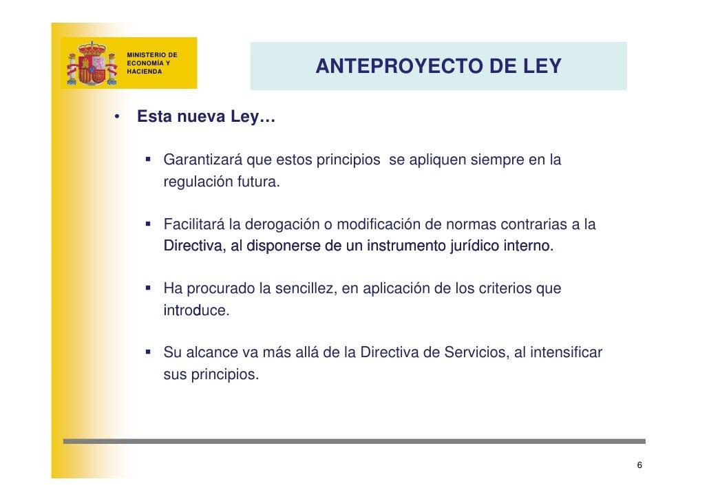 MINISTERIO DE                                    ANTEPROYECTO DE LEY      ECONOMÍA Y     HACIENDA     •     Esta nueva Ley...
