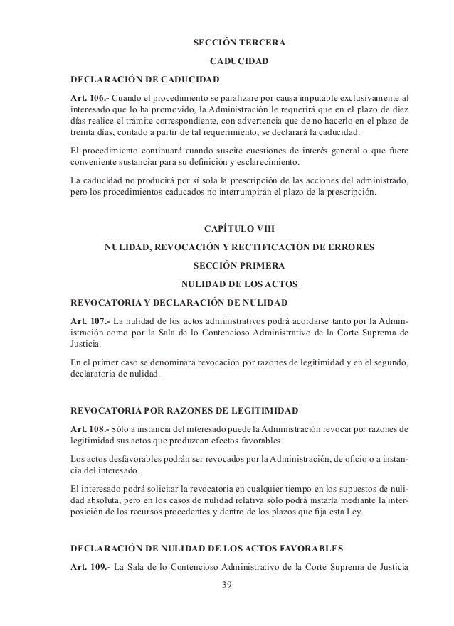 plazo de caducidad un procedimiento revision actos nulos