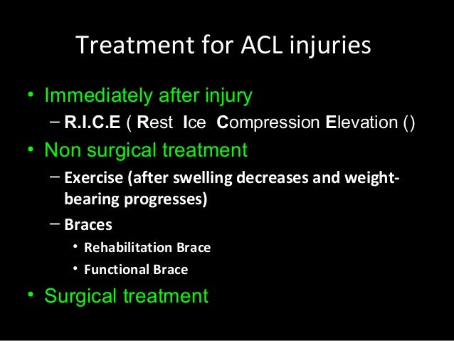 the causes and treatment of anterior cruciate ligament acl injuries Anterior cruciate ligament (acl) tears are a common injury, particularly in the  osteoarthritis before the clinical manifestation of the disease.
