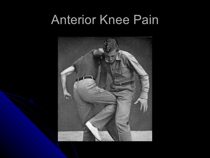 Anterior knee pain for Exterior knee pain
