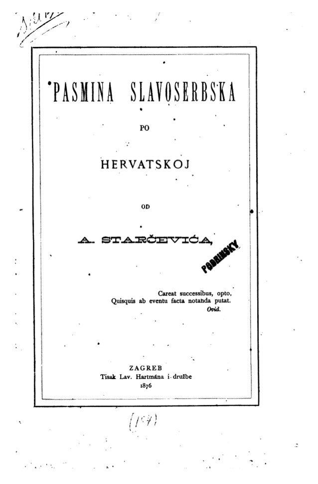 Ante Starcevic: pasmina slavoserbska po Hrvatskoj