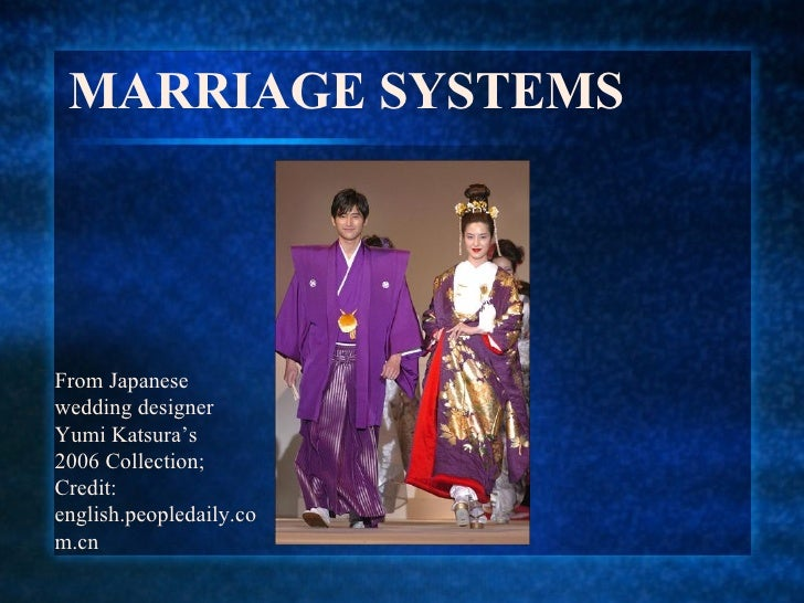 MARRIAGE SYSTEMS From Japanese wedding designer Yumi Katsura's 2006 Collection; Credit: english.peopledaily.com.cn