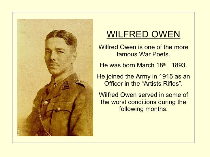 essay on anthem for doomed youth wilfred owen Owen does this in both poems anthem for doomed youth and dulce et decorum est as he contrasts societies views and depictions of war from societies views as a result propaganda and the harsh reality as a result of owens personal experiences.