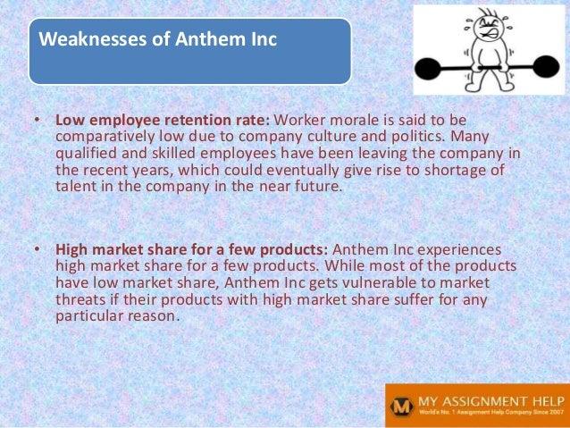 Anthem SWOT analysis Slide 10
