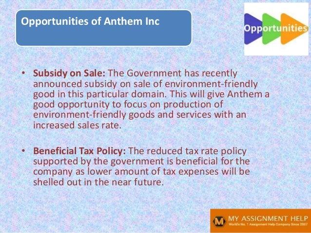 Anthem SWOT analysis Slide 13